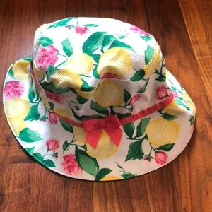 Girls Janie and Jack Lemons Bucket Hat Size 6-8